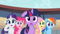 Rarity, Pinkie, Twilight, Fluttershy, Rainbow - you kidding?.S02E14