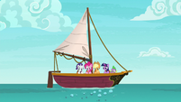 Twilight and friends look at bubbling water S6E22