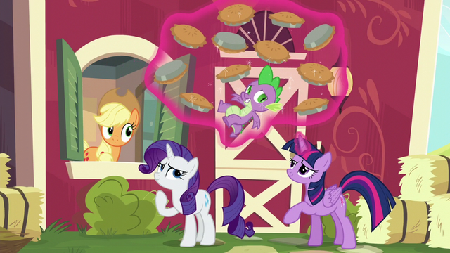 File:Twilight levitates Spike and pies S6E10.png