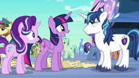 Twilight happy to see Shining Armor S6E1
