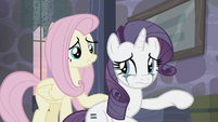 Fluttershy trying to comfort Rarity S5E02