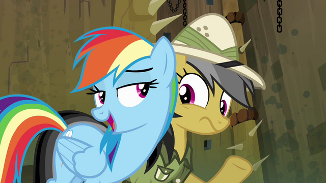 "File:Rainbow Dash ""you're lucky I don't"" S4E04.png"