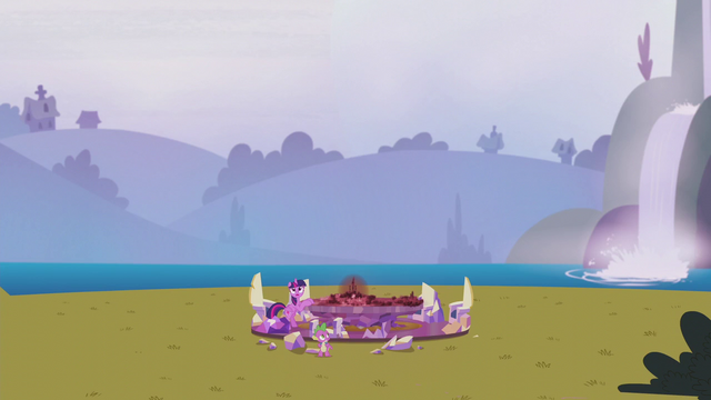 File:Twilight and Spike with the Cutie Map in the middle of a field S5E25.png