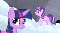 Twilight and Starlight hear Double Diamond S5E2