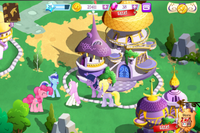 File:Gameloft Canterlot ponies.png