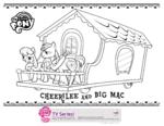 Hubworld.com Cheerilee and Big Mac coloring page