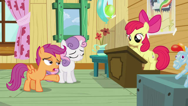 "File:Scootaloo ""you can't be a Cutie Mark Crusader"" S5E4.png"