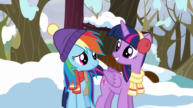 "File:Twilight and Rainbow ""ready for some winter fun?"" S5E5.png"