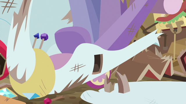 File:Wing snaps off of Rarity's swan cart S6E14.png