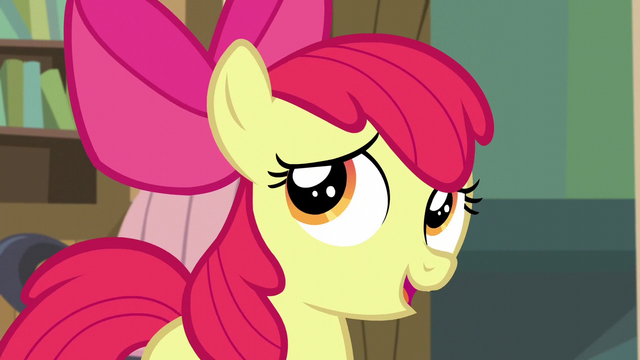 "File:Apple Bloom ""I needed more sleep than I thought!"" S5E4.png"