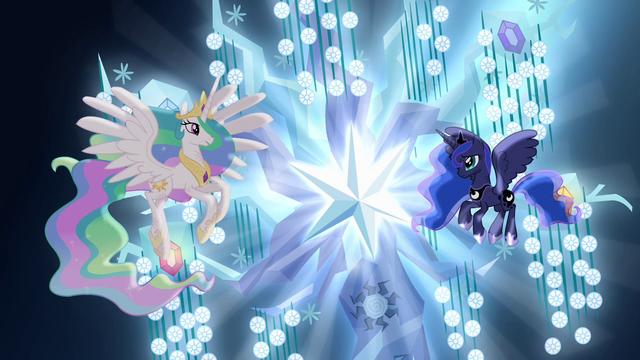 File:Princess Celestia and Princess Luna with Tree of Harmony S04E02.png