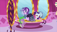 Starlight wearing a dress decorated with gems S5E26