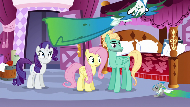 File:Fluttershy and Rarity see animals dragging dyed fabric S6E11.png