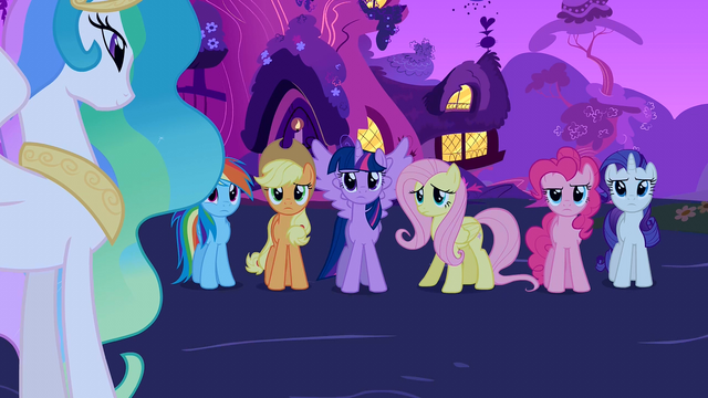 File:Mane 6 reaction shot S3E13.png