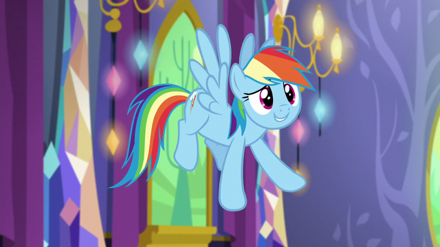 "File:Rainbow Dash ""let's decorate!"" S5E3.png"