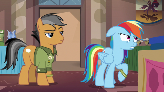 File:Rainbow Dash groaning at Quibble S6E13.png