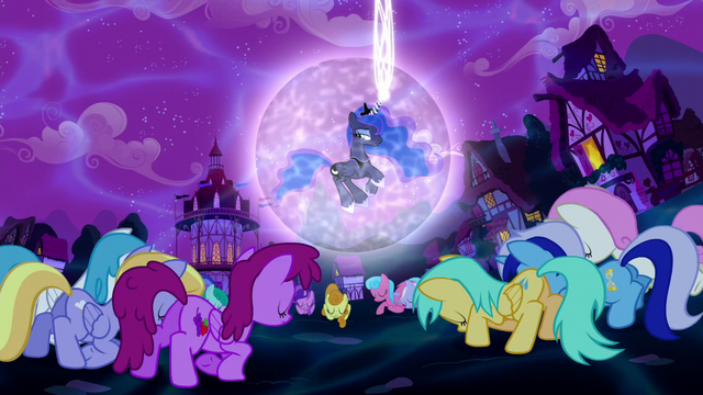 File:Ponies bowing to Princess Luna S5E13.png
