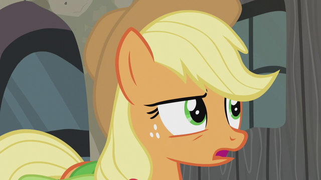 "File:Applejack ""how'd you know that?"" S5E20.png"