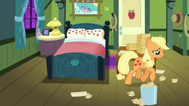 File:Applejack walking in her room S3E08.png