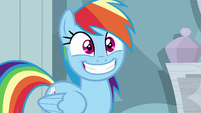 Rainbow Dash grinning excitedly S6E13