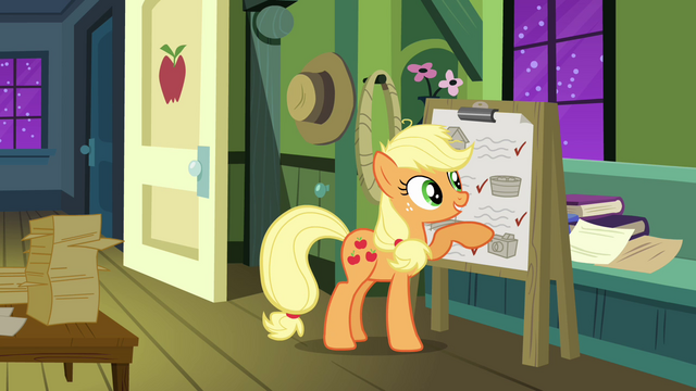 File:Applejack 'you won't even have a minute's rest!' S3E08.png