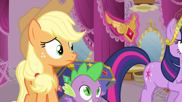 File:Applejack sees element S3E13.png