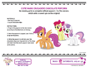 Cutie Mark Crusaders Chocolate Popcorn recipe page original version