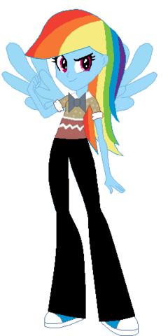File:FANMADE Rainbow Dash Human Nerd.png