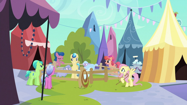 File:Fluttershy kicks pen gate S3E2.png