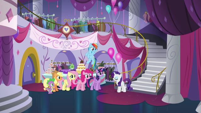 File:Main cast inside the Canterlot Carousel S5E14.png