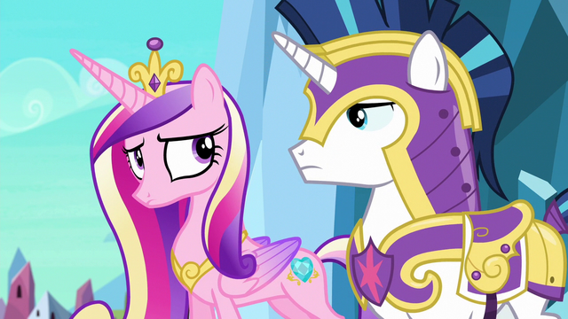 File:Shining Armor and Cadance nod to each other S6E16.png