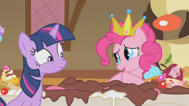 File:Pinkie Pie and the remains of the cake S1E10.png