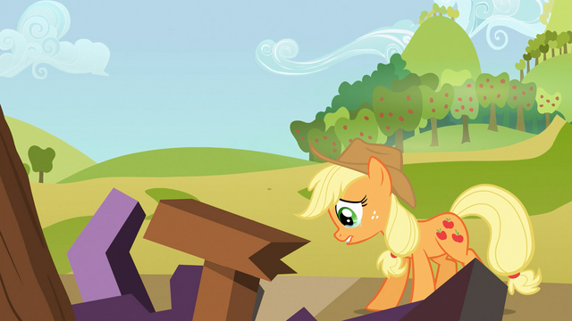 File:Applejack cries over ruined reunion S03E08.png