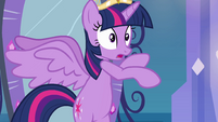 Princess Twilight on hind hooves EG