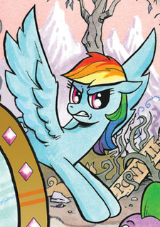 Comic issue 19 Alternate Rainbow Dash.png