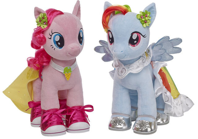 File:Build a Bear Workshop Pinkie Pie and Rainbow Dash in their special clothes.jpg