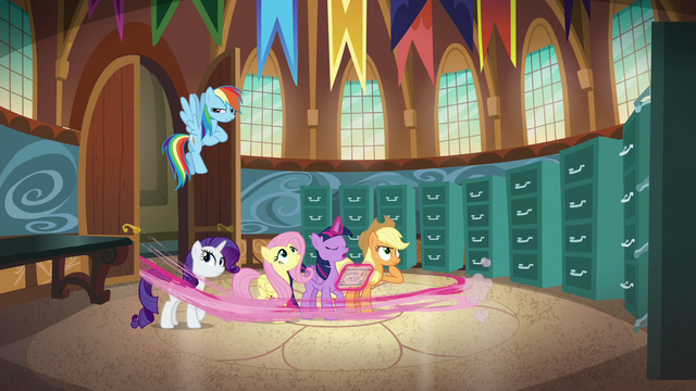 File:Pinkie Pie speeds out of Town Hall S5E19.png