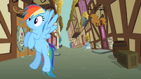 Rainbow Dash listening carefully S2E08
