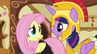 Twilight asks Fluttershy what's wrong S5E21