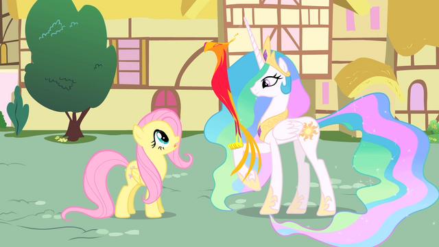 File:Princess Celestia shows Philomena to Fluttershy S01E22.png