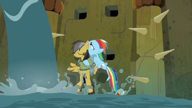 File:Rainbow Dash rescues Daring S4E04.png