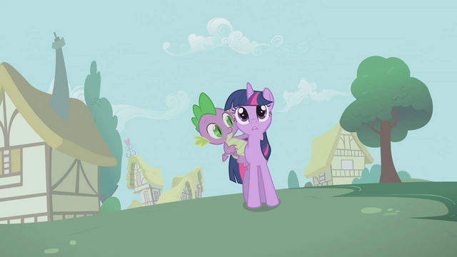 File:Twilight Sparkle Spike Shocked S1E9.png