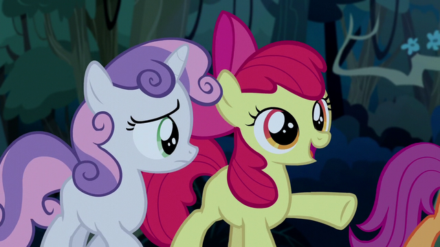 "File:Apple Bloom ""they were just enjoyin' the show"" S5E6.png"