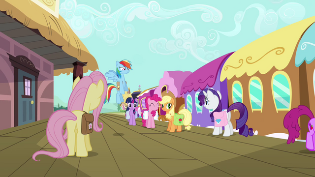 File:Main six about to board the train S03E12.png