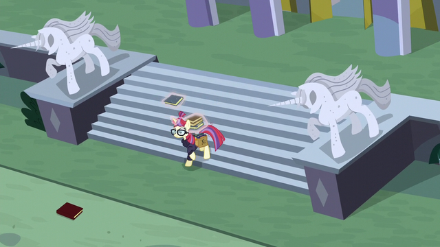 File:Moon Dancer collecting books one by one S5E12.png