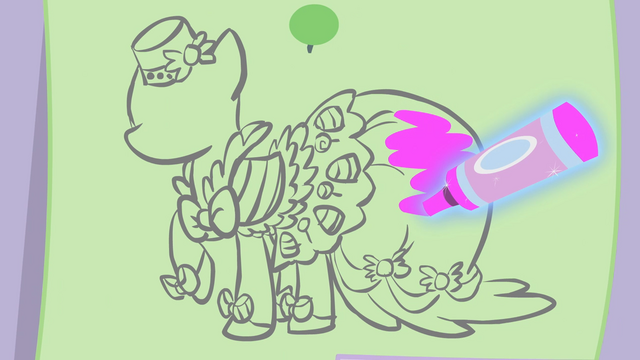 File:Pinkie Pie's Dress sketch S1E14.png