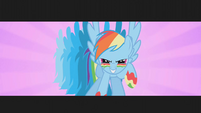 Rainbow Dash ready to get the dragon S1E7