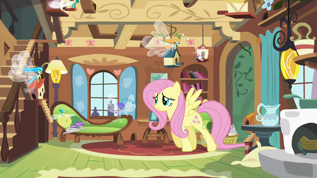 File:Fluttershy caring for the Breezies S4E16.png