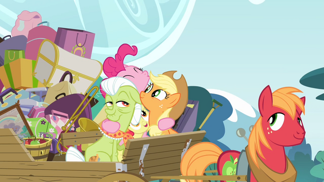 File:Pinkie Pie hugging the Apples S4E09.png