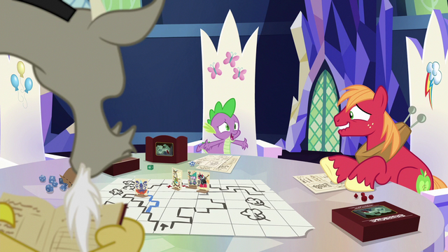 "File:Spike ""everypony laughs harder!"" S6E17.png"